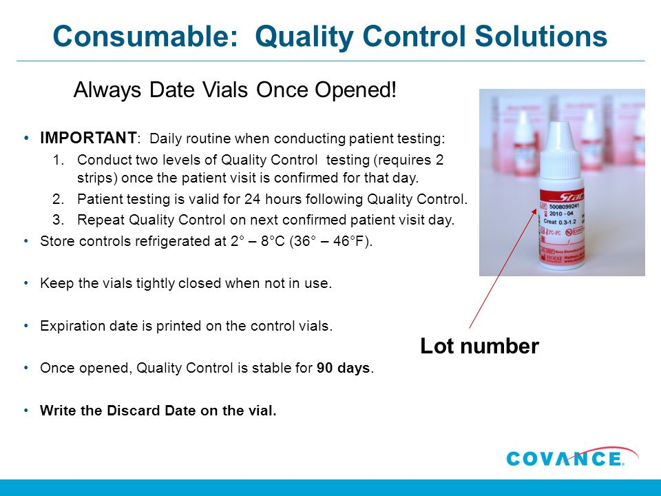 Consumable: Quality Control Solutions