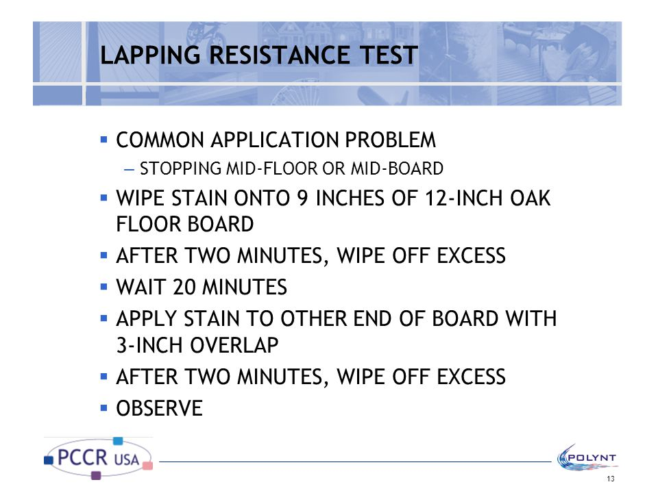 LAPPING RESISTANCE TEST