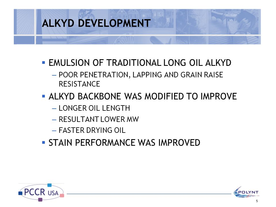 ALKYD DEVELOPMENT EMULSION OF TRADITIONAL LONG OIL ALKYD