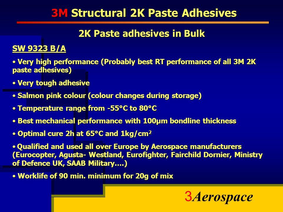 3M Structural 2K Paste Adhesives 2K Paste adhesives in Bulk