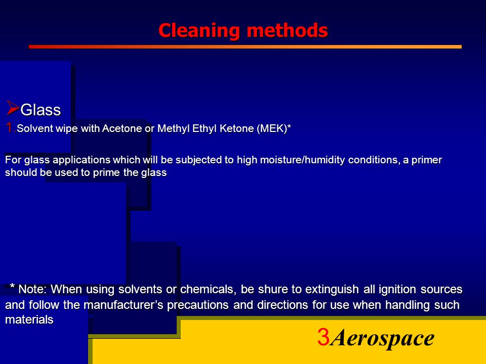 Cleaning methods Glass