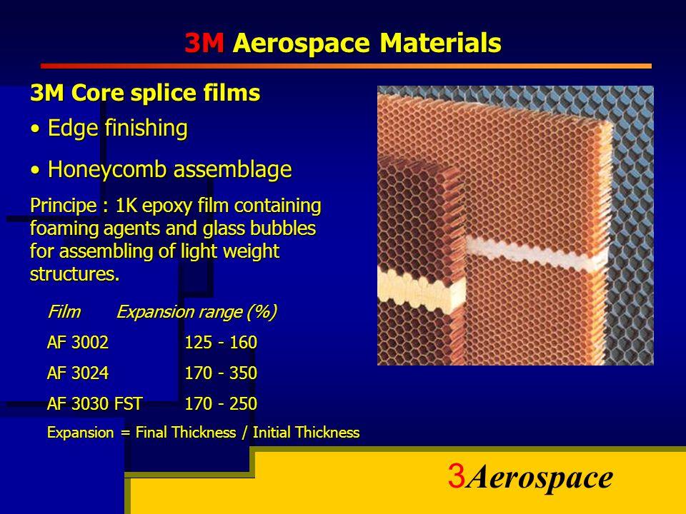3M Aerospace Materials 3M Core splice films Edge finishing
