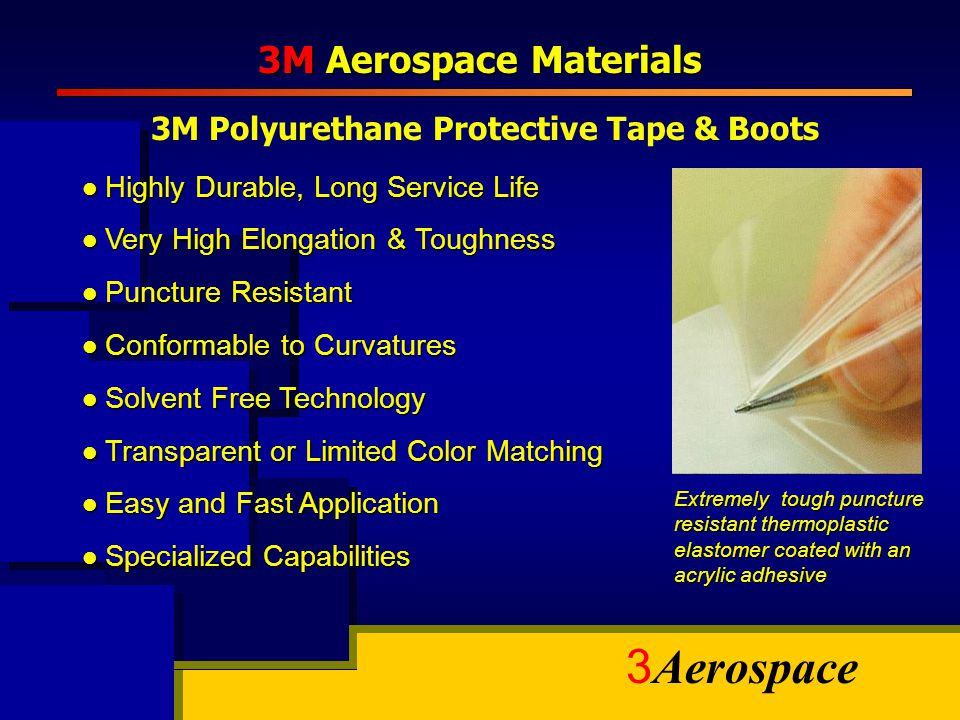 3M Polyurethane Protective Tape & Boots