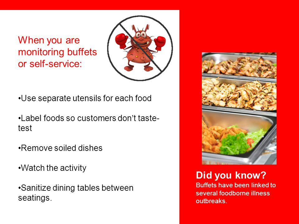 monitoring buffets or self-service: