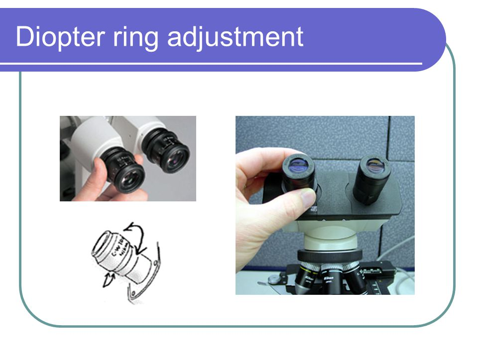 Diopter ring adjustment