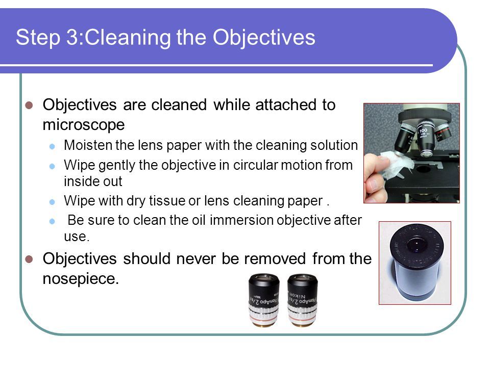 Step 3:Cleaning the Objectives