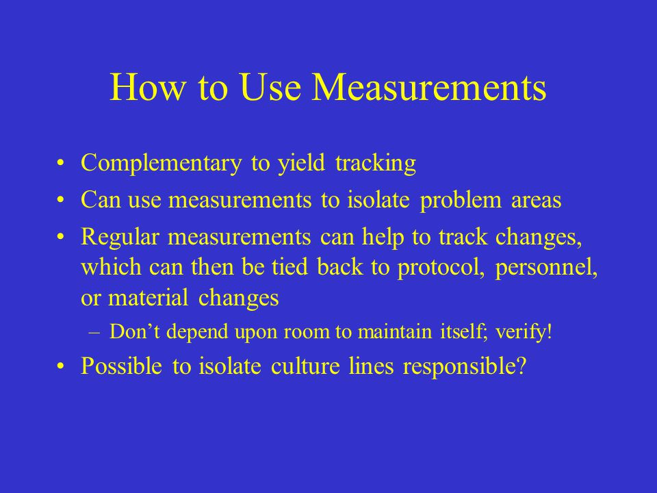 How to Use Measurements