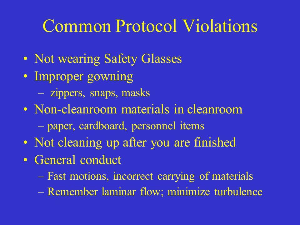 Common Protocol Violations
