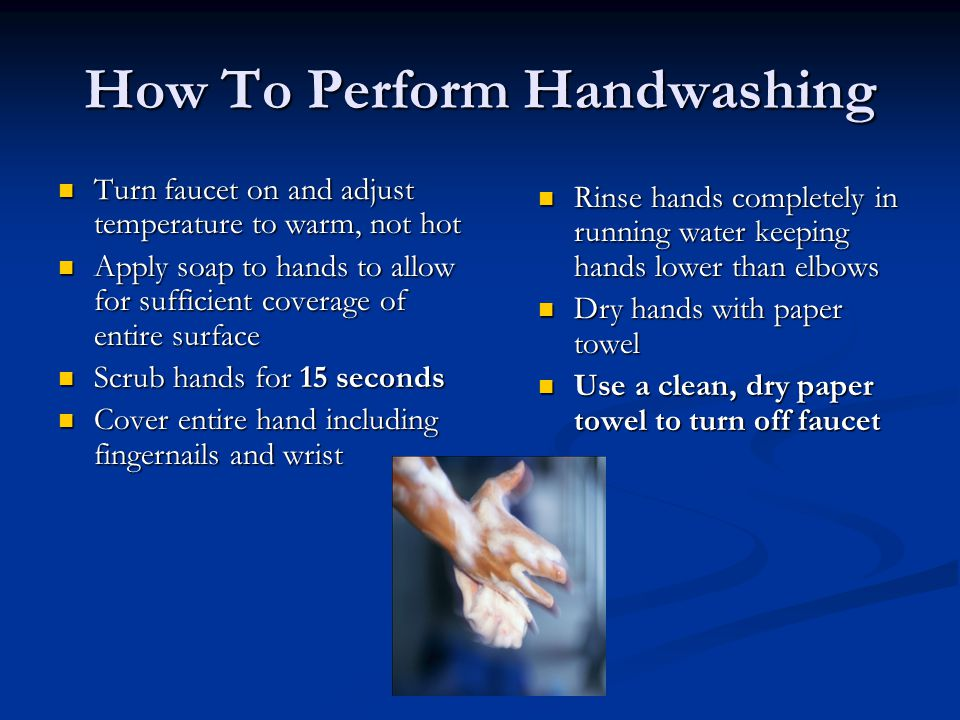 How To Perform Handwashing