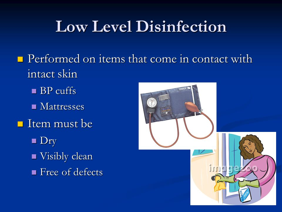 Low Level Disinfection
