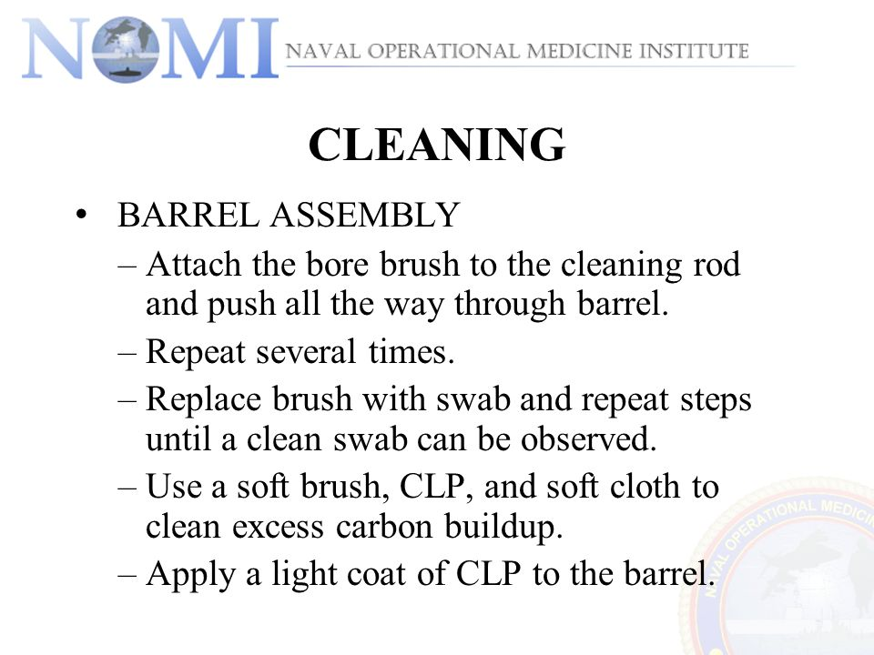 CLEANING BARREL ASSEMBLY