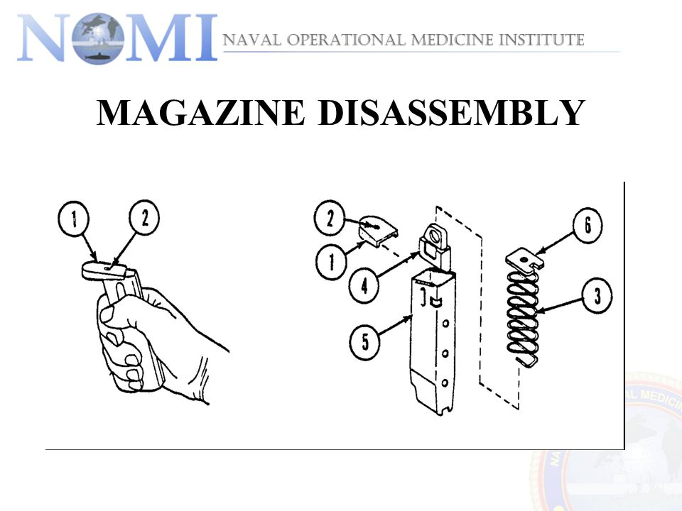 MAGAZINE DISASSEMBLY