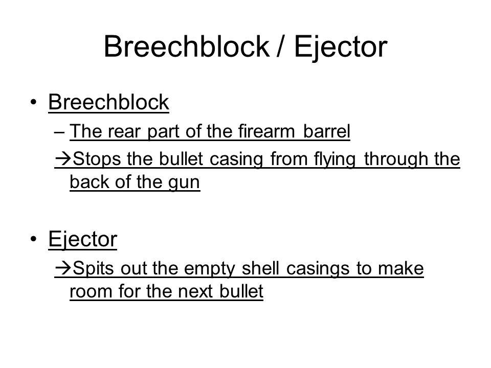 Breechblock / Ejector Breechblock Ejector