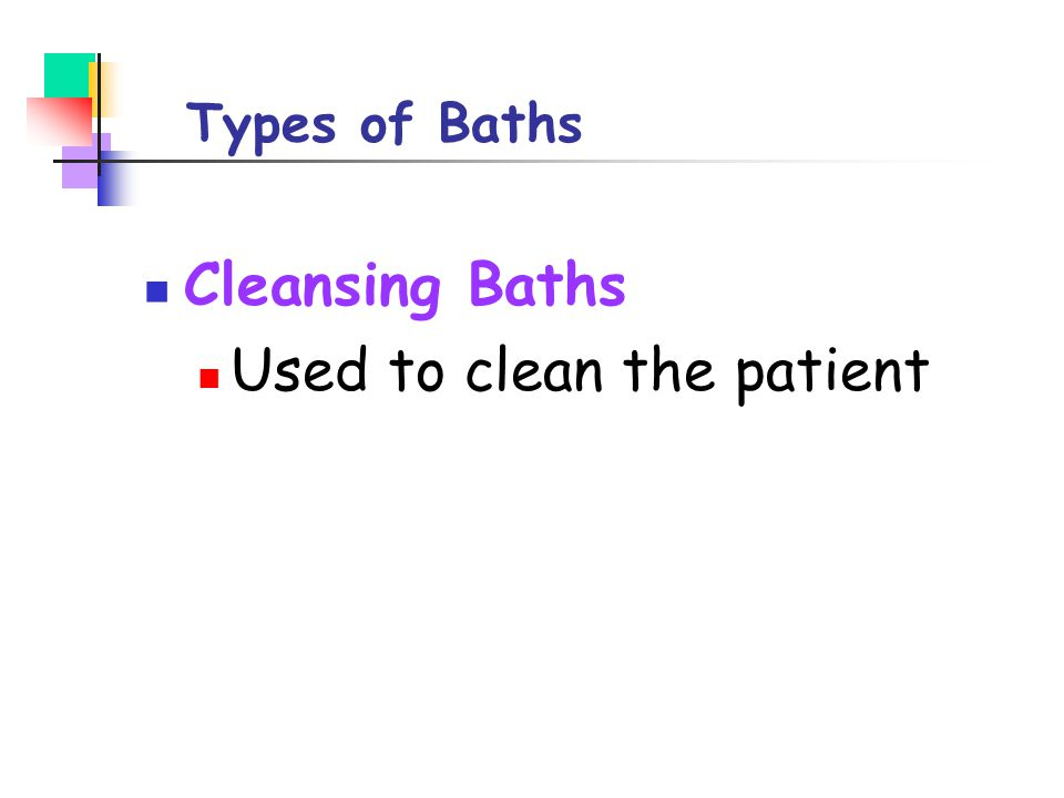 Used to clean the patient