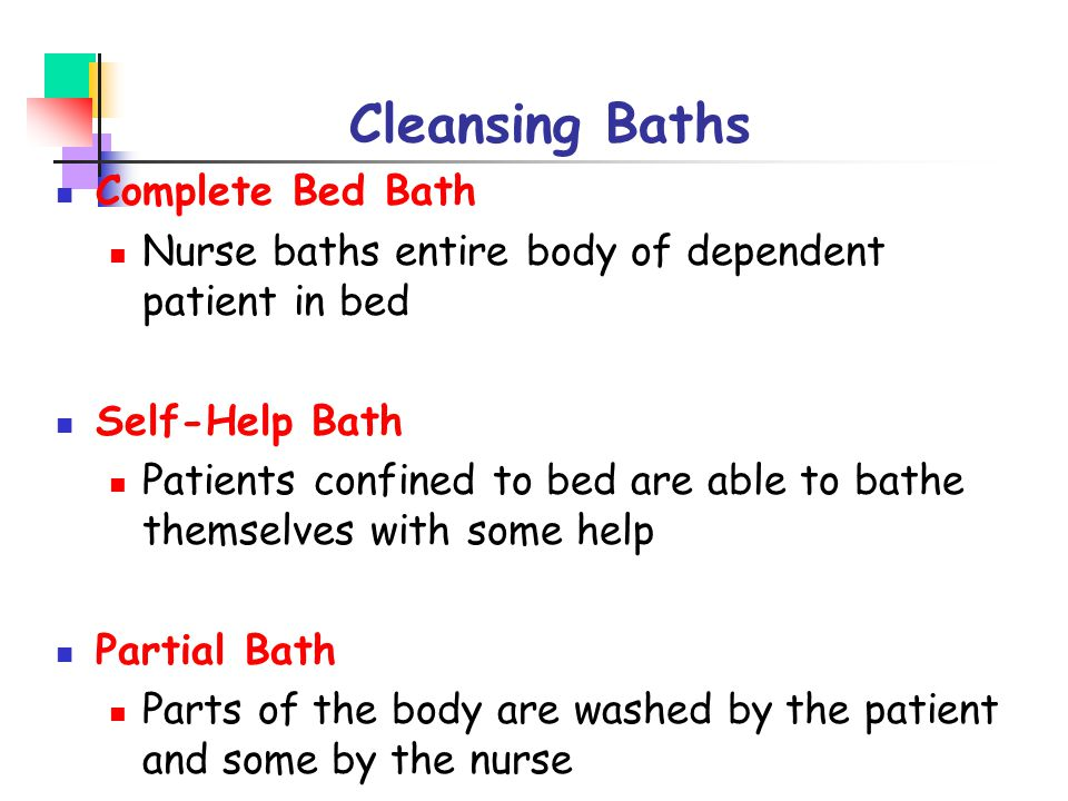 Cleansing Baths Complete Bed Bath