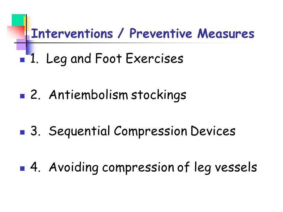 Interventions / Preventive Measures