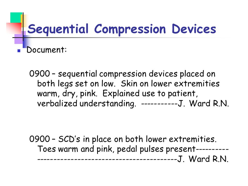 Sequential Compression Devices