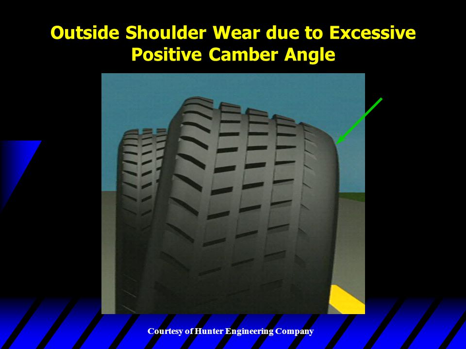 Outside Shoulder Wear due to Excessive Positive Camber Angle