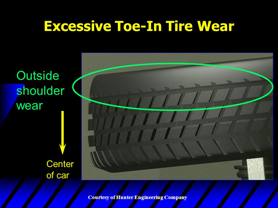 Excessive Toe-In Tire Wear