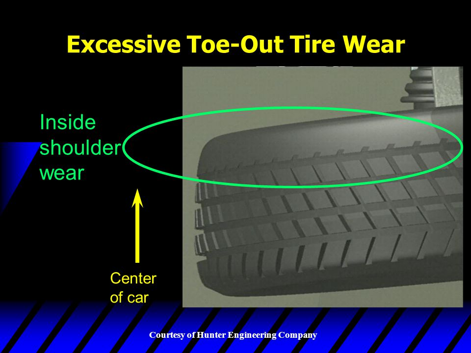 Excessive Toe-Out Tire Wear
