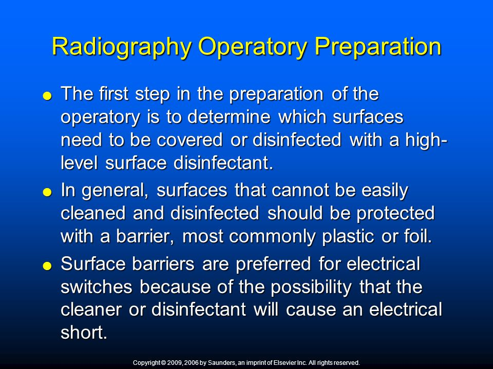 Radiography Operatory Preparation