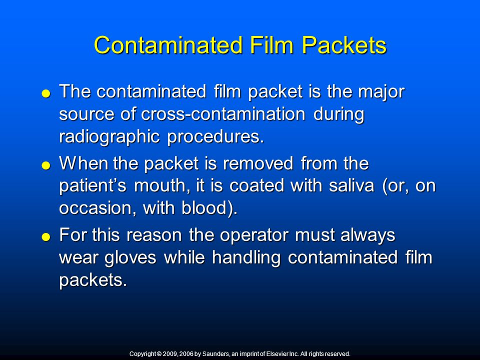 Contaminated Film Packets