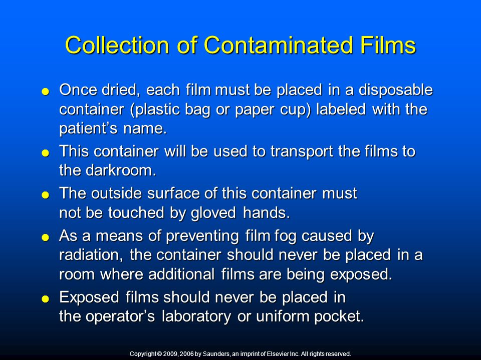 Collection of Contaminated Films