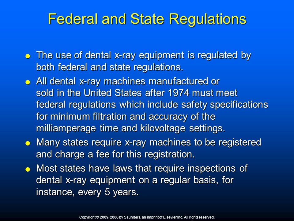 Federal and State Regulations