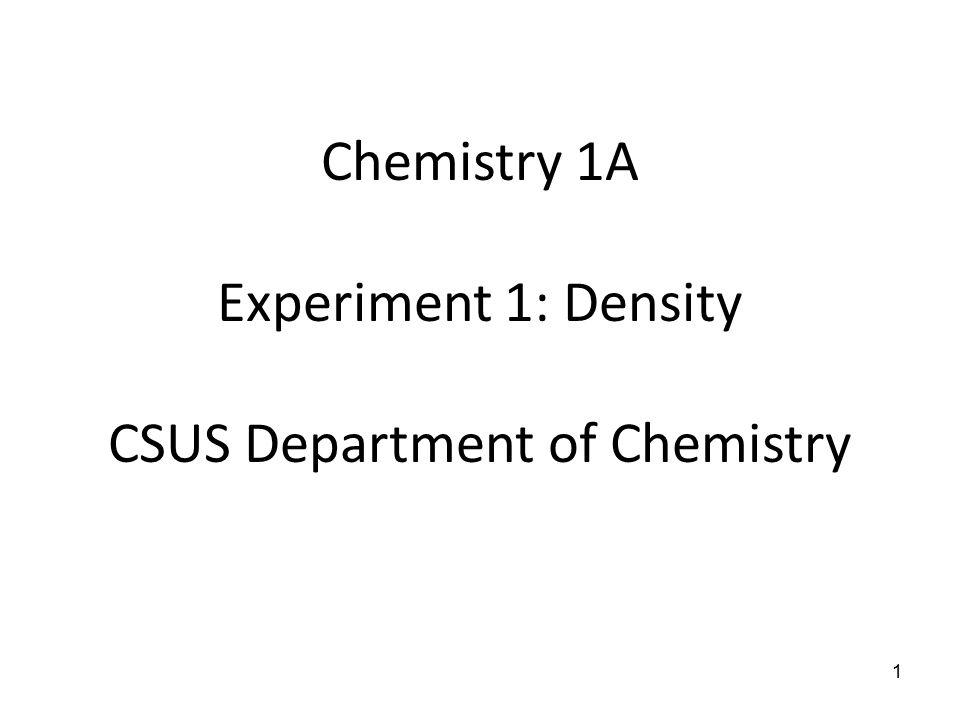 CSUS Department of Chemistry