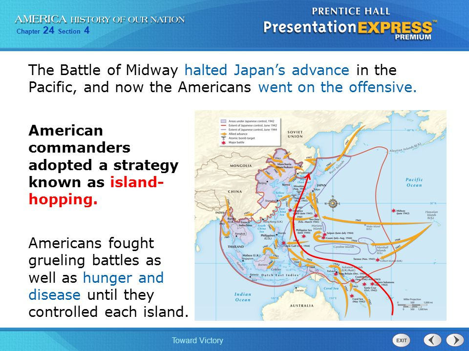 The Battle of Midway halted Japan's advance in the Pacific, and now the Americans went on the offensive.