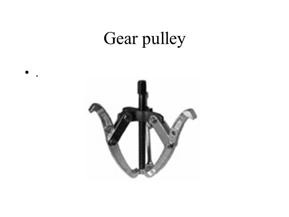 Gear pulley .