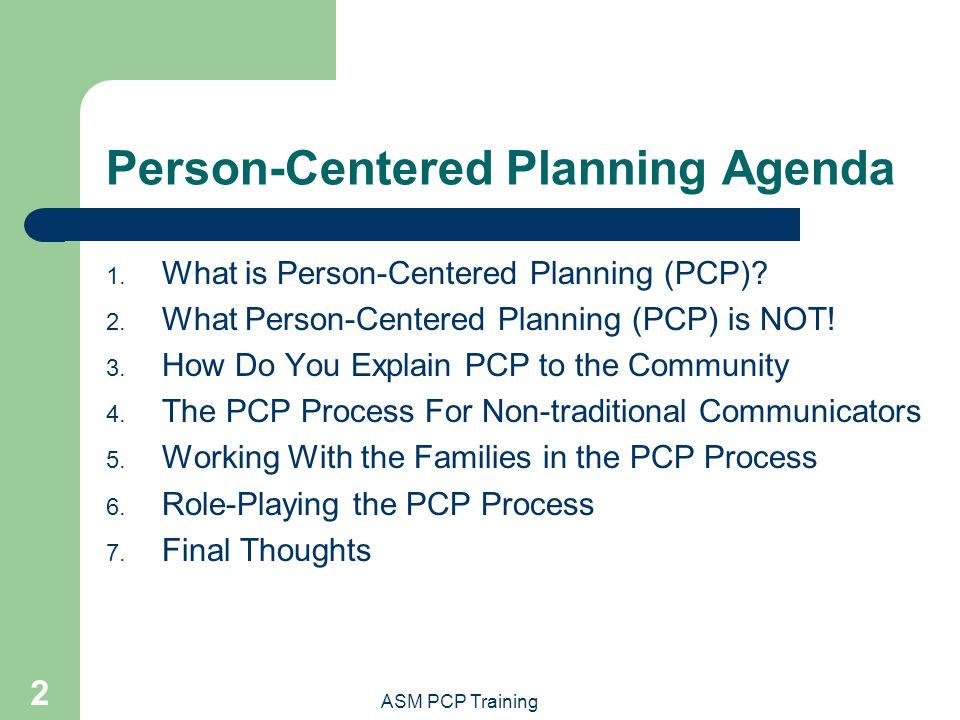 Person-Centered Planning Agenda