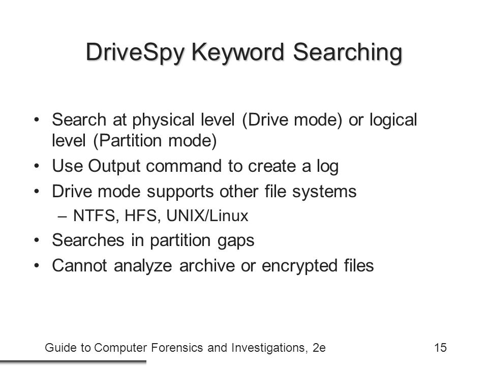 DriveSpy Keyword Searching