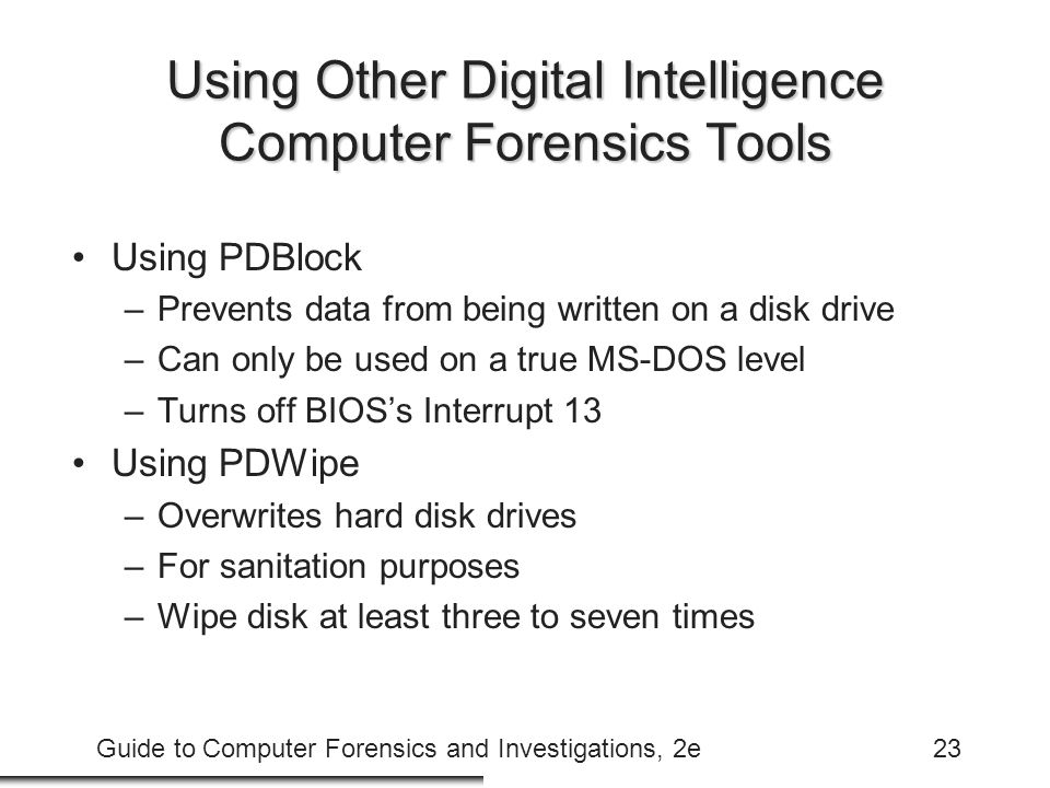Using Other Digital Intelligence Computer Forensics Tools
