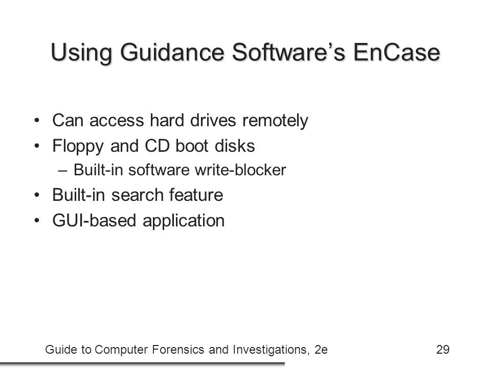 Using Guidance Software's EnCase