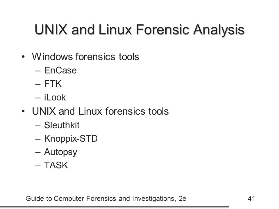 UNIX and Linux Forensic Analysis