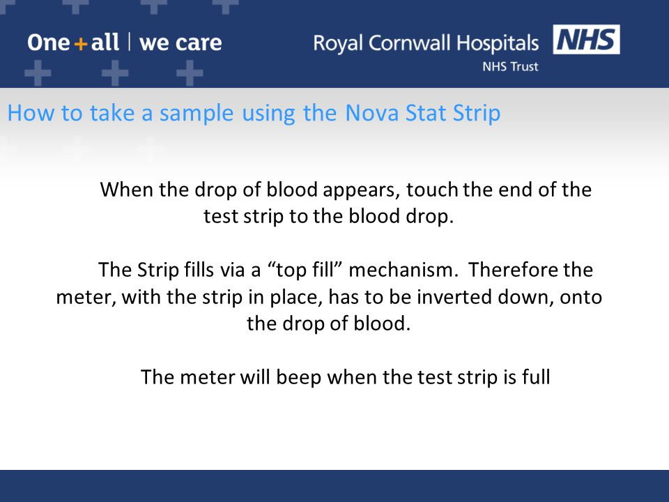 How to take a sample using the Nova Stat Strip