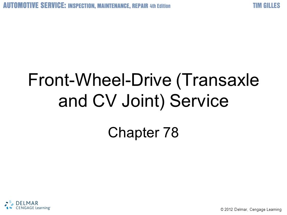 Front-Wheel-Drive (Transaxle and CV Joint) Service
