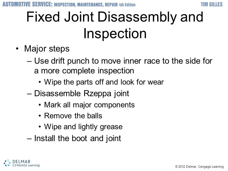 Fixed Joint Disassembly and Inspection