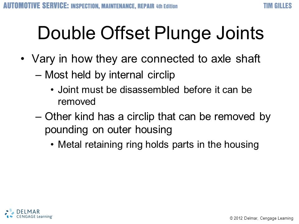 Double Offset Plunge Joints