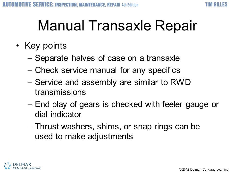 Manual Transaxle Repair