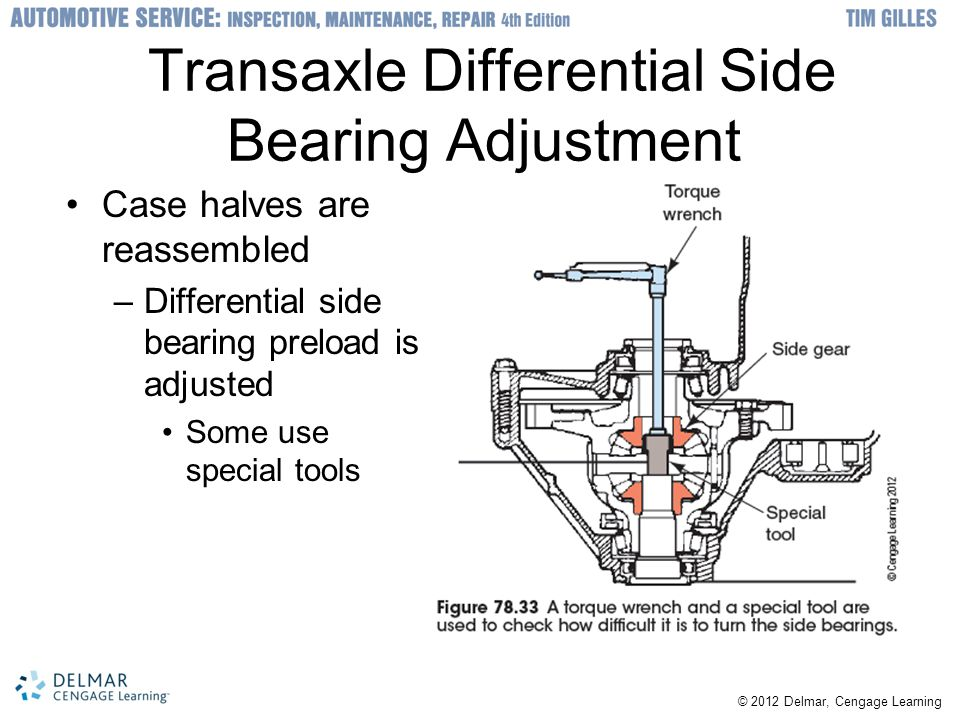 Transaxle Differential Side Bearing Adjustment