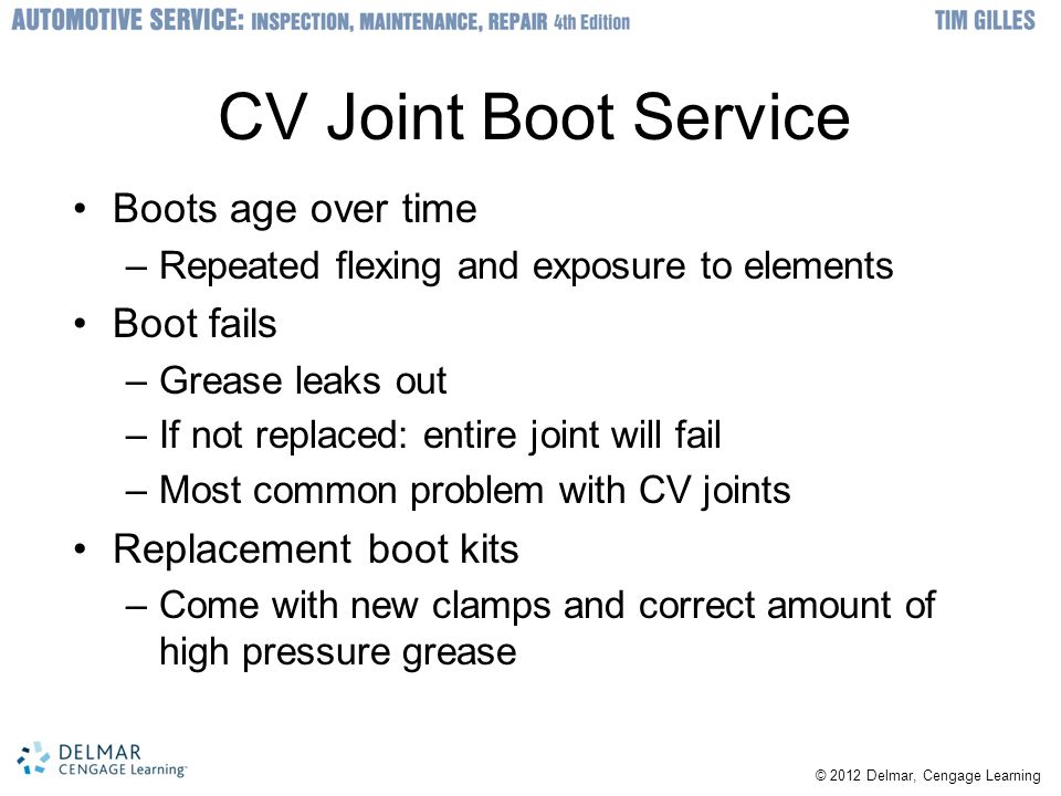 CV Joint Boot Service Boots age over time Boot fails
