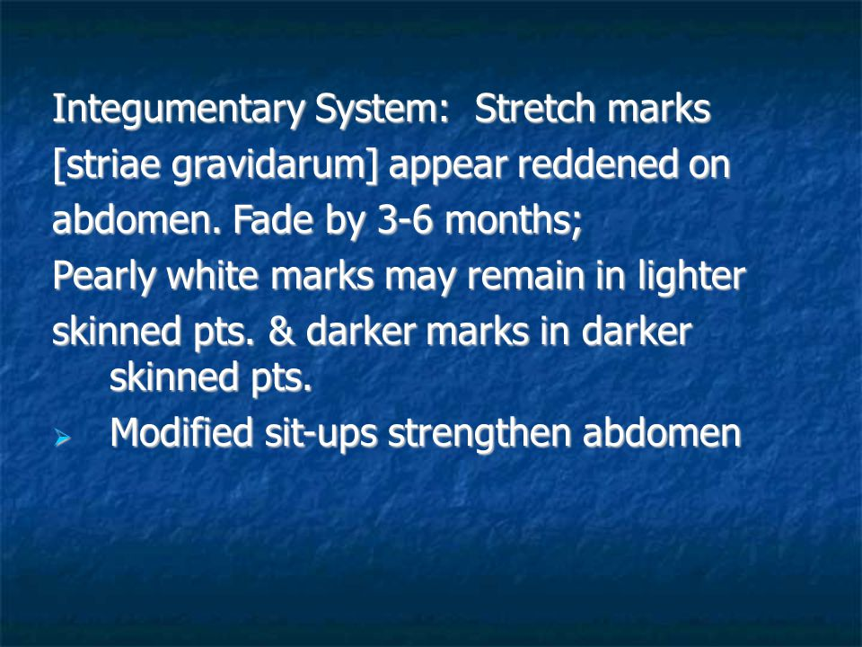 Integumentary System: Stretch marks
