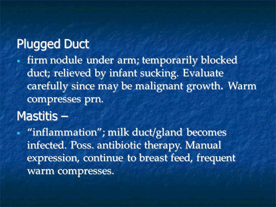Plugged Duct Mastitis –