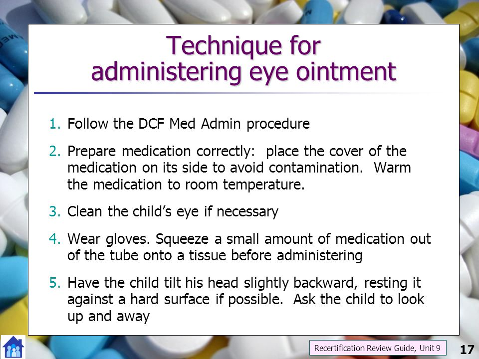 Technique for administering eye ointment