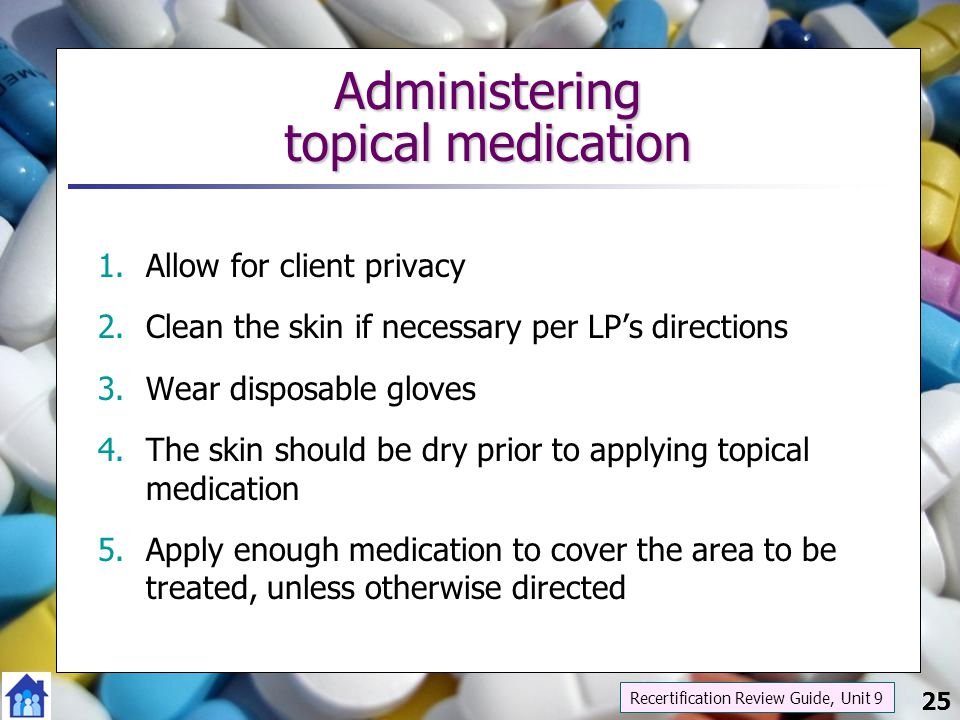 Administering topical medication