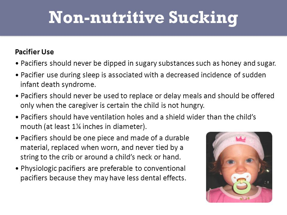 Non-nutritive Sucking