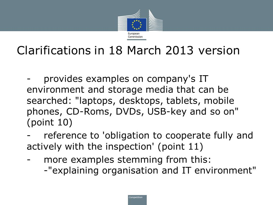 Clarifications in 18 March 2013 version