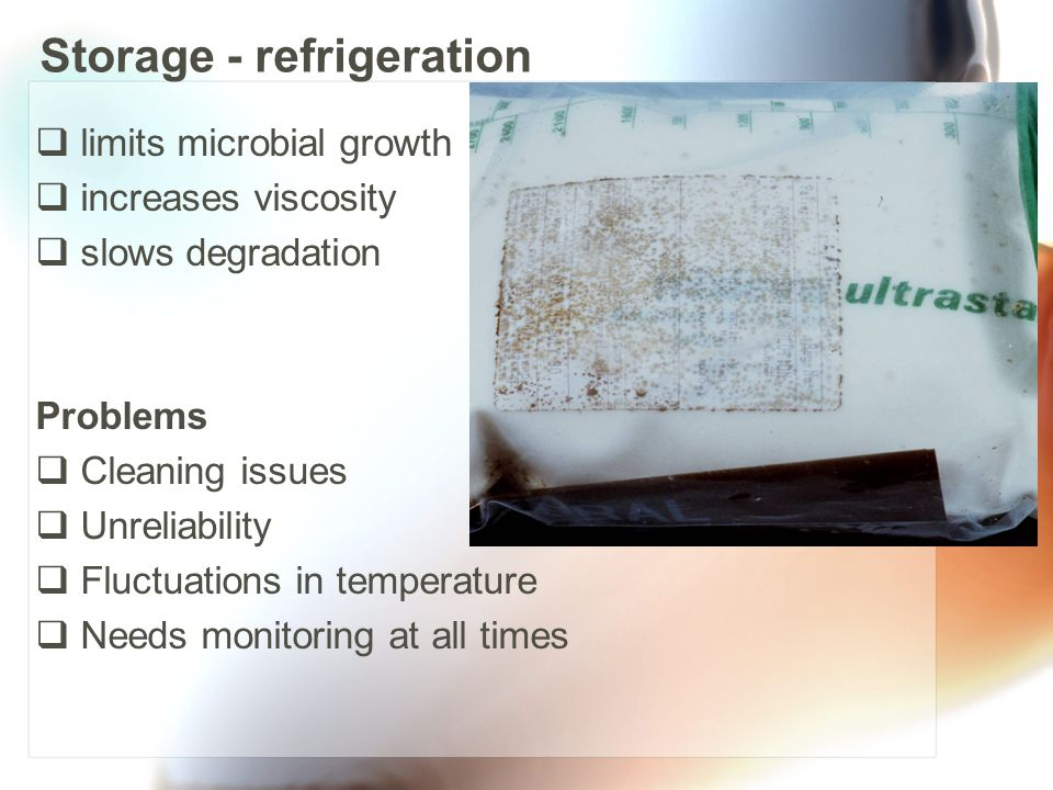 Storage - refrigeration